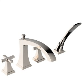 Roman Tub Faucet With Hand Shower Leyden Series 14 Polished Nickel 1