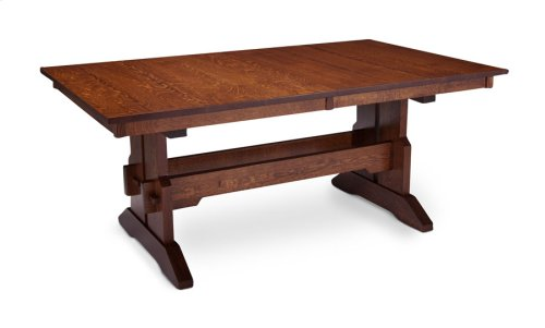 """Franklin Trestle Table with Butterfly Leaf, Franklin Trestle Table, 48""""x72"""", 1-18"""" Stationary Butterfly Leaf on Each End"""