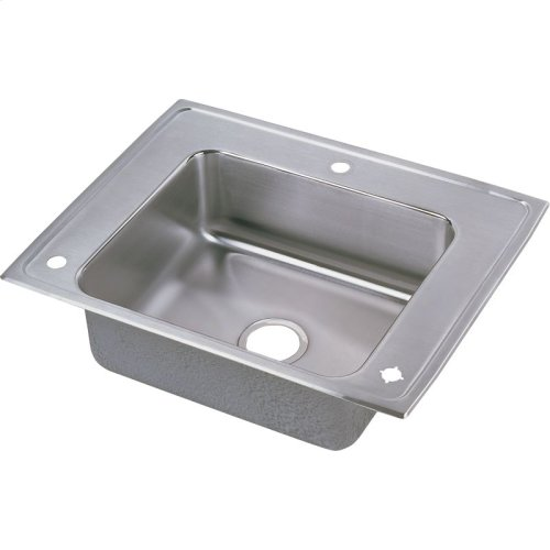 "Elkay Lustertone Classic Stainless Steel 28"" x 22"" x 4"", Single Bowl Drop-in Classroom ADA Sink+Faucet/Bubbler Kit"