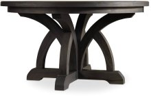 Corsica Dark Round Dining Table w/1-18in Leaf