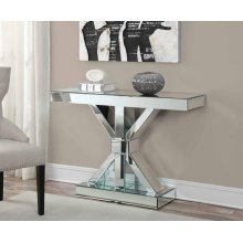 Contemporary Mirrored Console Table