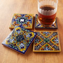 Spanish Garden Tile Coasters