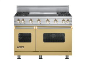 "48"" Custom Sealed Burner Range, Natural Gas, Brass Accent"