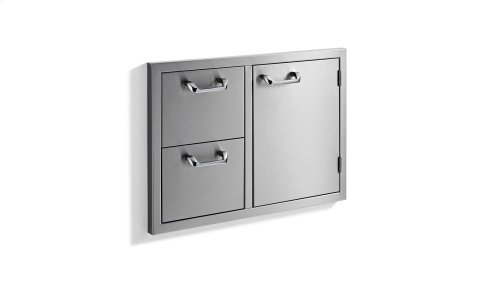 "30"" storage door & double drawer combo - Sedona by Lynx Series"