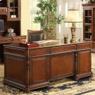 Bristol Court - Executive Desk - Cognac Cherry Finish Product Image