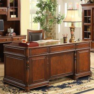 RiversideBristol Court - Executive Desk - Cognac Cherry Finish