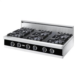 "Black 42"" Open Burner Rangetop - VGRT (42"" wide, six burners)"