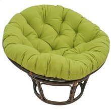 Bali 42-inch Indoor Fabric Rattan Papasan Chair - Walnut/Mojito Lime