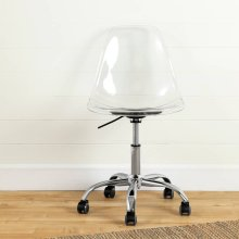 Acrylic Office Chair with Wheels - Clear