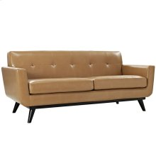 Engage Bonded Leather Loveseat in Tan