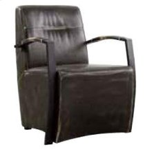 Industrial Brown and Grey Accent Chair