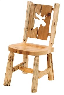 Cut-out Side Chair Moose, Wood Seat