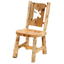 Cut-out Side Chair - Moose - Natural Cedar - Wood Seat