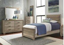 Twin Uph Bed, Dresser & Mirror