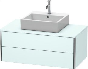 Vanity Unit For Console Wall-mounted, Light Blue Matt Decor