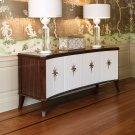 Klismos Media Cabinet-Walnut w/Ivory Doors Product Image