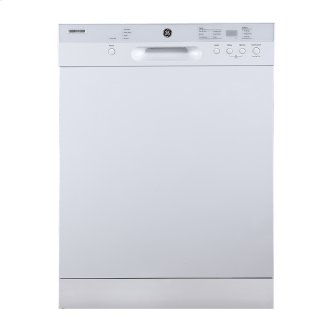 """GE 24"""" Built-In Front Control Dishwasher with Stainless Steel Tall Tub White - GBF532SGMWW"""