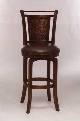 Norwood Swivel Barstool Brown
