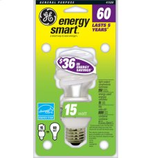 GE 15 Watt Soft White Spiral®