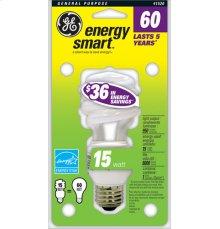 GE 15 Watt Soft White Spiral®