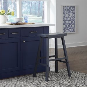 Liberty Furniture Industries30 Inch Sawhorse Stool- Navy