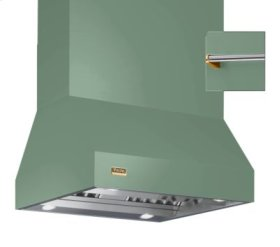 "36"" Wide Island Hood, Brass Accessory Rail on front and back"