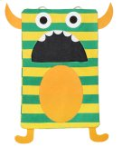 Green Stripe Monster Laundry Bag Product Image