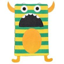 Green Stripe Monster Laundry Bag