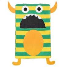 Green Stripe Monster Laundry Bag