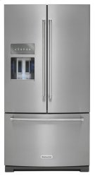 26.8 cu.ft. 36-Inch Width Standard Depth French Door Refrigerator, Exterior Ice/Water Platinum Interior - Stainless Steel Product Image