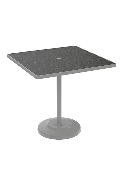 "Raduno Square 42"" Bar Height Table with Umbrella Hole"