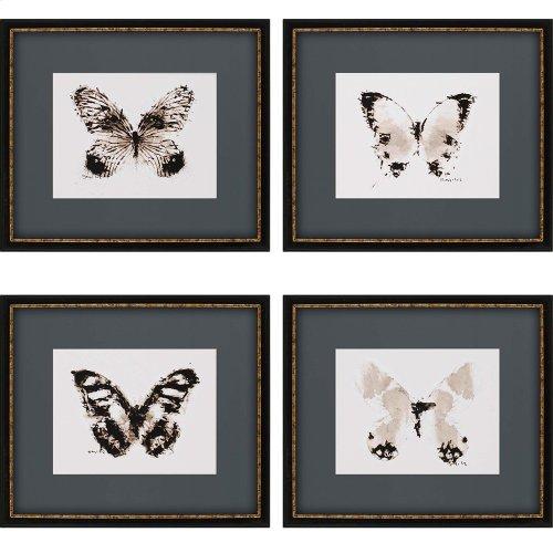 Inked Butterflies Pk/4