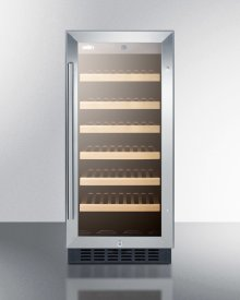 """15"""" Wide 33 Bottle Wine Cellar for Built-in or Freestanding Use, With Digital Controls and LED Lighting"""