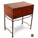 Studded Leather Box On Stand Product Image
