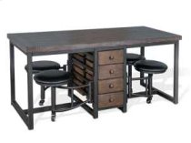 Table Set w/ Attached 4-Stools Product Image