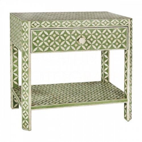 Ecliptic Side Table, Pale Jade