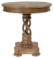 Bengal Manor Mango Wood Twist Accent Table Product Image