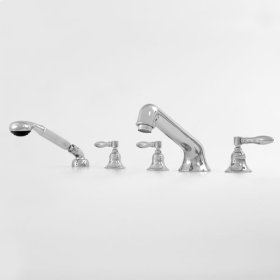 1500 Series Roman Tub Set with Diverter, Handshower and Huntington Handle (available as trim only P/N: 1.152793T)