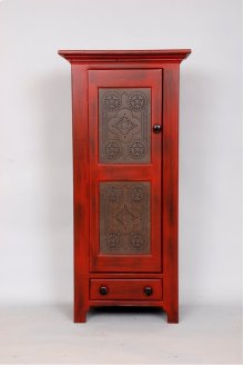 """#217 Punch Tin Cupboard 23""""wx14""""dx49""""h"""