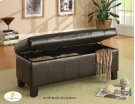 Lift-Top Storage Bench, Dark Brown Product Image