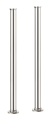 Arcade Floor-mount Pillar Legs - Polished Chrome