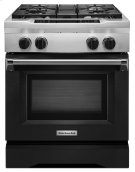 30'' 4-Burner Dual Fuel Freestanding Range, Commercial-Style - Imperial Black Product Image