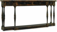 Sanctuary Four-Drawer Thin Console - Ebony