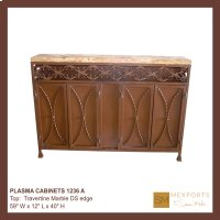 Plasma Cabinets Travertine Marble Top Product Image