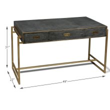 Grey Leather Shagreen Desk
