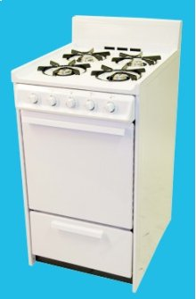 "20"" Gas Range Mono-Chromatic White"