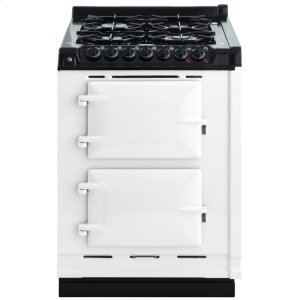 "AGAAGA Module 24"" Electric/Natural Gas White with Stainless Steel trim"