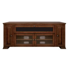 Espresso Finish Wood Home Entertainment Cabinet