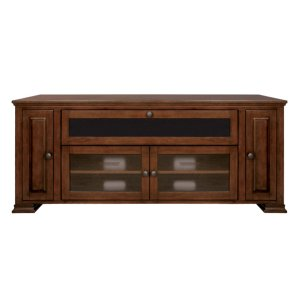 Espresso Finish Wood Home Entertainment Cabinet -