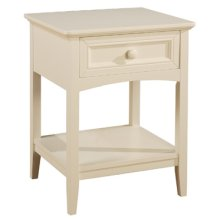 "Parker ""White"" 1-Drawer Nightstand"